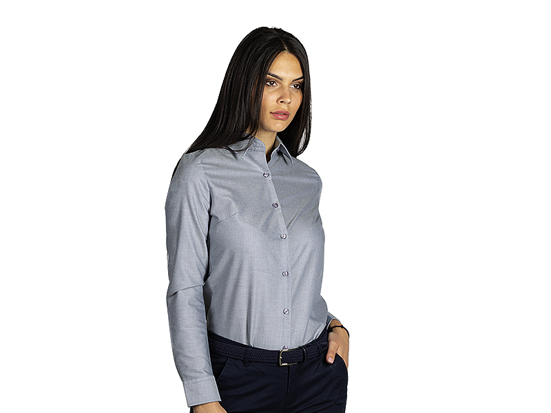 Women's long sleeve shirt, classic adjusted fit